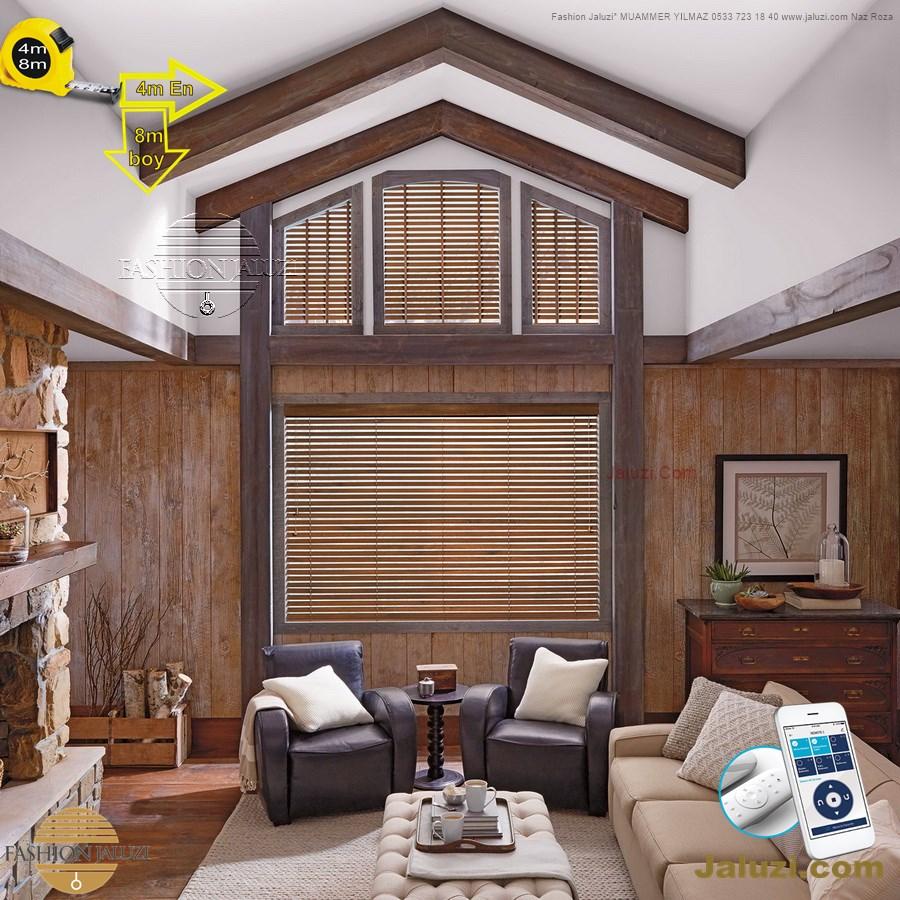 0 geniş enli ahşap lauzi 4m 5m 6m yüksek boy wide extra large wood blinds motorlu dev jumbo çok yüksek boy (3)