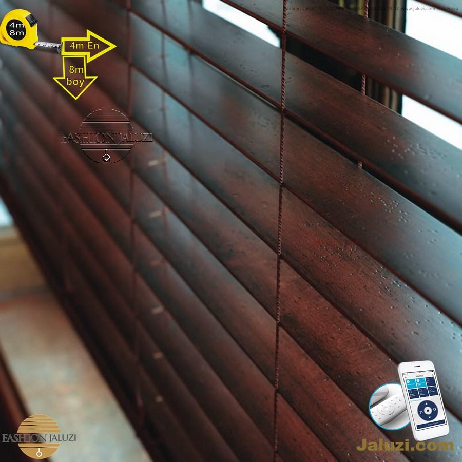 0 geniş enli ahşap lauzi 4m 5m 6m yüksek boy wide extra large wood blinds motorlu dev jumbo çok yüksek boy (4)