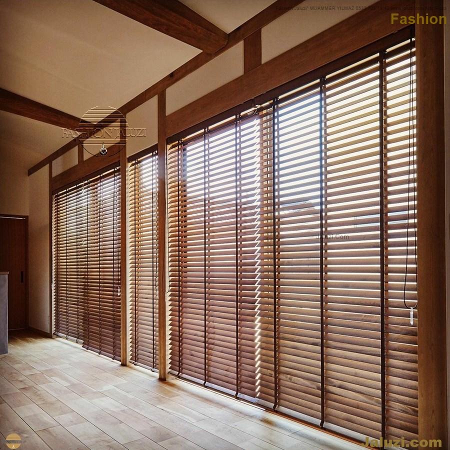 ahşap jaluzi fon perde modelleri ahşap jaluzi modelleri ev ofis kumaş perde tül jaluzi kenar süs perde wood blinds turkey (3)