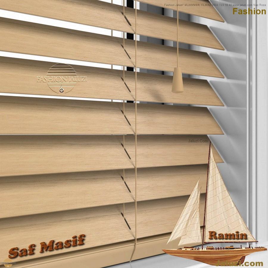 ahşap jaluzi fon perde modelleri ahşap jaluzi modelleri ev ofis kumaş perde tül jaluzi kenar süs perde wood blinds turkey (5)