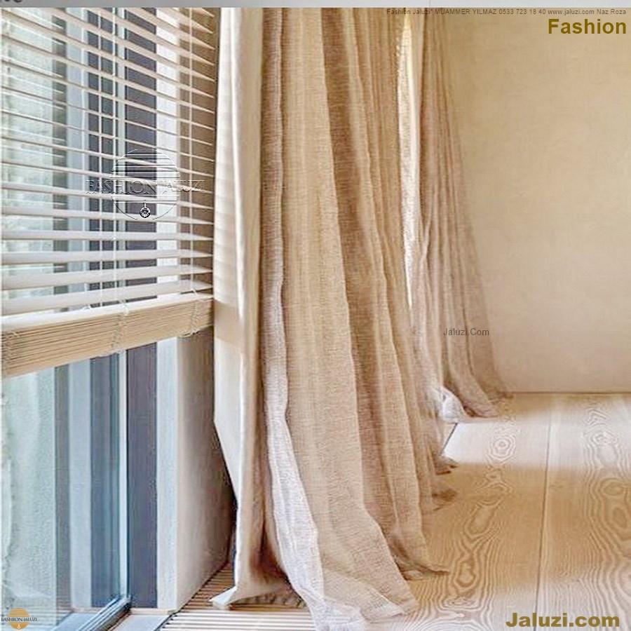 ahşap jaluzi fon perde modelleri ahşap jaluzi modelleri ev ofis kumaş perde tül jaluzi kenar süs perde wood blinds turkey (69)