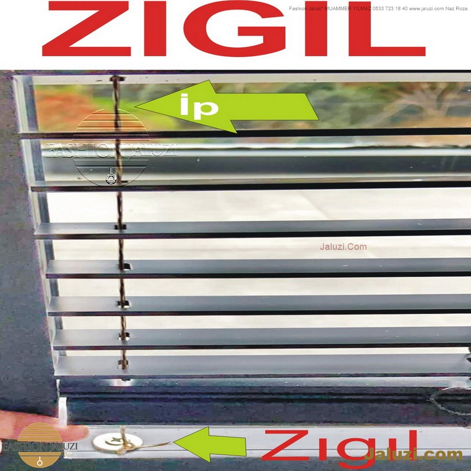 cam üstü jaluzi perde pencere pimapen üstünde üzerine sabitli ipli zıgıl zıgıllı zigil ipli zincirli düğmeli motorlu 25mm 50mm ahşap metal alüminyum jaluzi pvc pencere (10)