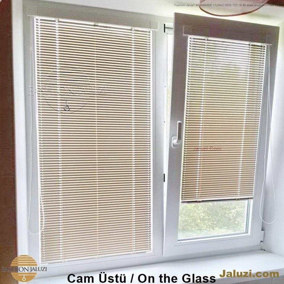 cam üstü jaluzi perde pencere pimapen üstünde üzerine sabitli ipli zıgıl zıgıllı zigil ipli zincirli düğmeli motorlu 25mm 50mm ahşap metal alüminyum jaluzi pvc pencere (17)