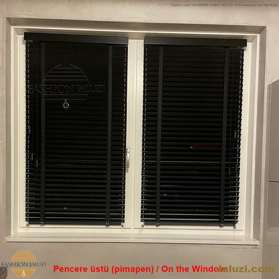 cam üstü jaluzi perde pencere pimapen üstünde üzerine sabitli ipli zıgıl zıgıllı zigil ipli zincirli düğmeli motorlu 25mm 50mm ahşap metal alüminyum jaluzi pvc pencere (23)