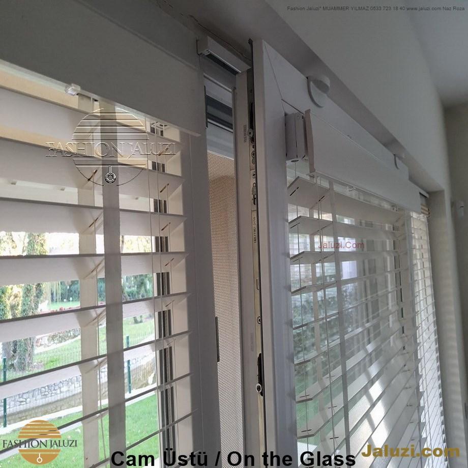 cam üstü jaluzi perde pencere pimapen üstünde üzerine sabitli ipli zıgıl zıgıllı zigil ipli zincirli düğmeli motorlu 25mm 50mm ahşap metal alüminyum jaluzi pvc pencere (30)