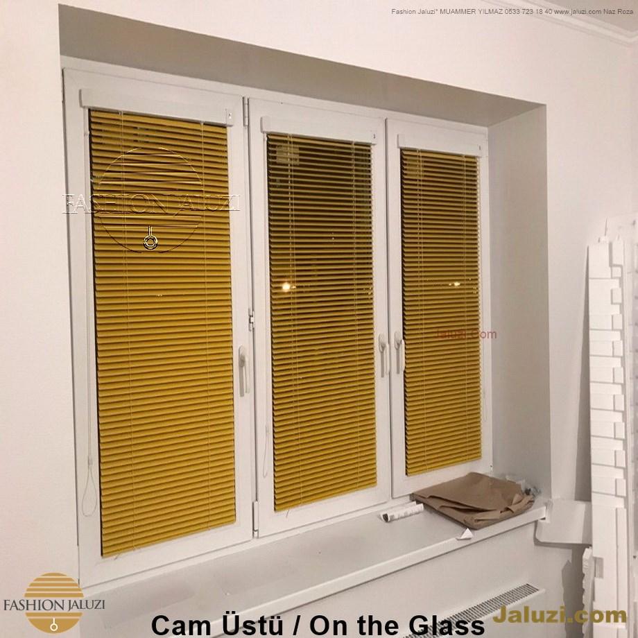 cam üstü jaluzi perde pencere pimapen üstünde üzerine sabitli ipli zıgıl zıgıllı zigil ipli zincirli düğmeli motorlu 25mm 50mm ahşap metal alüminyum jaluzi pvc pencere (31)