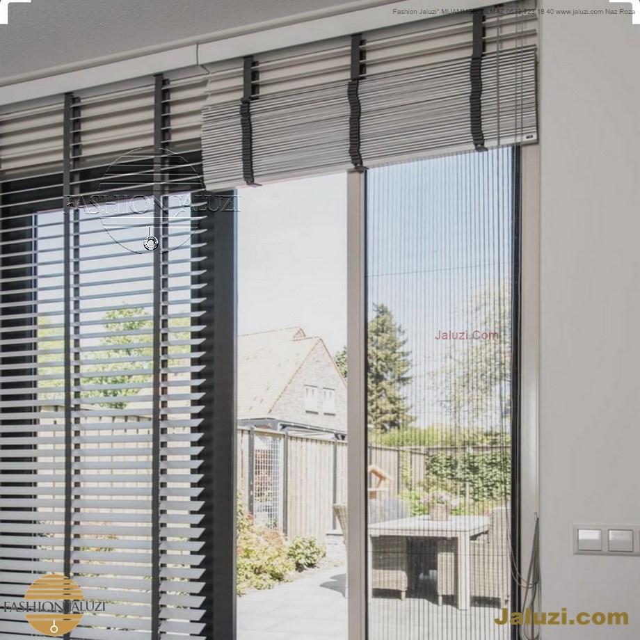cam üstü jaluzi perde pencere pimapen üstünde üzerine sabitli ipli zıgıl zıgıllı zigil ipli zincirli düğmeli motorlu 25mm 50mm ahşap metal alüminyum jaluzi pvc pencere (47)