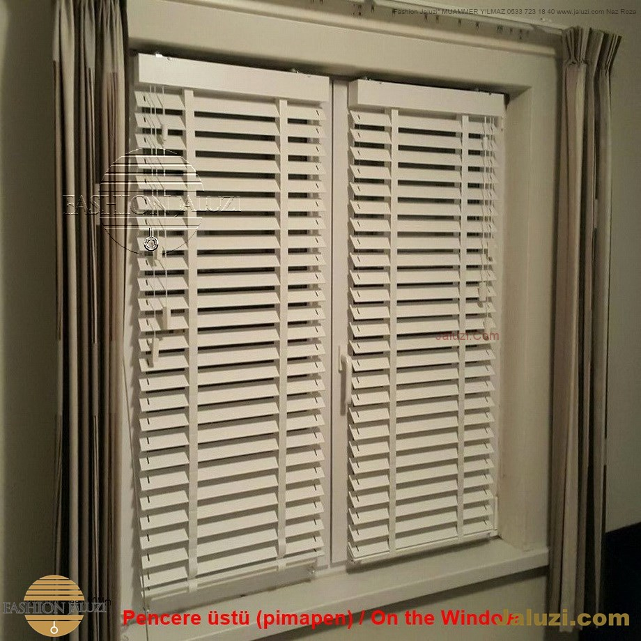 cam üstü jaluzi perde pencere pimapen üstünde üzerine sabitli ipli zıgıl zıgıllı zigil ipli zincirli düğmeli motorlu 25mm 50mm ahşap metal alüminyum jaluzi pvc pencere (7)