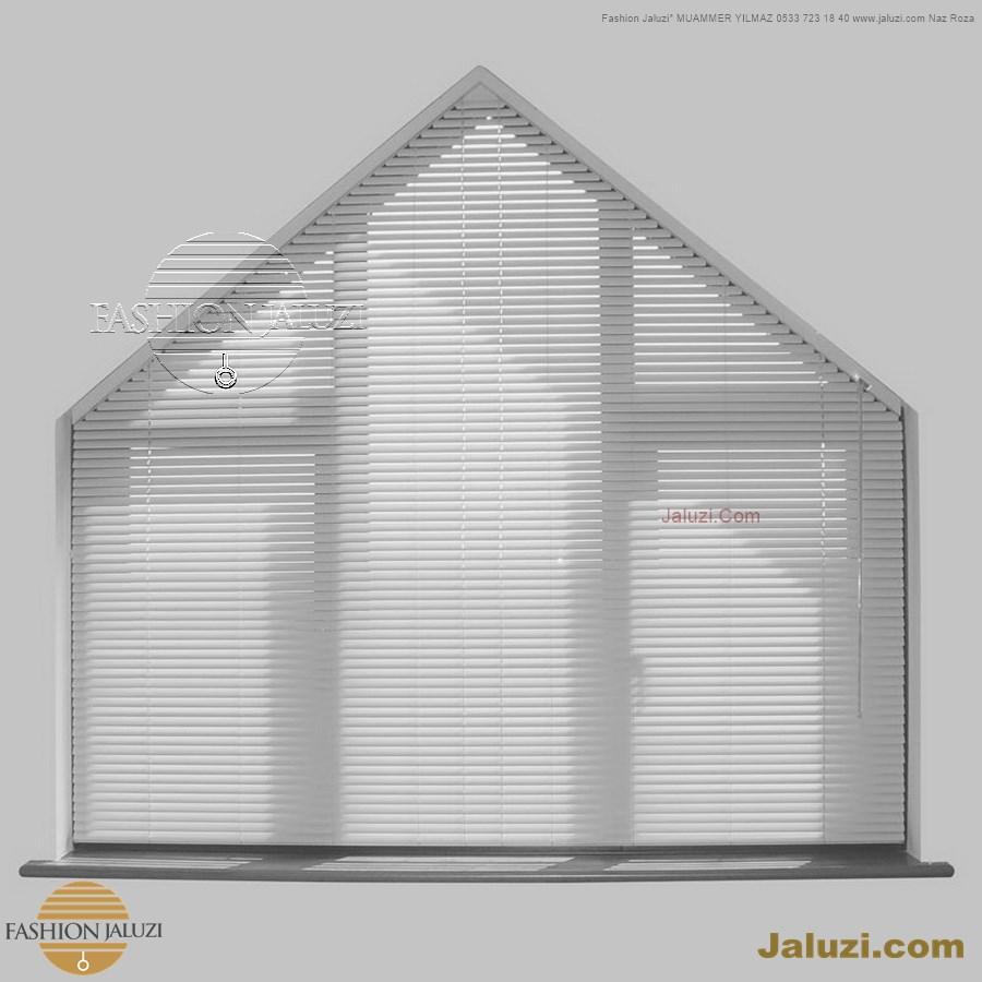 jaluzi perde eğimli meyilli üçgen yamuk şekilsiz alttan eğik formsuz üstten açılı açı shaped venetian blinds ahşap jaluzi perde (23)