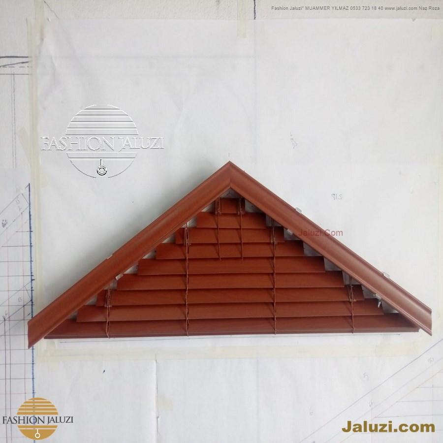 jaluzi perde eğimli meyilli üçgen yamuk şekilsiz alttan eğik formsuz üstten açılı açı shaped venetian blinds ahşap jaluzi perde (33)
