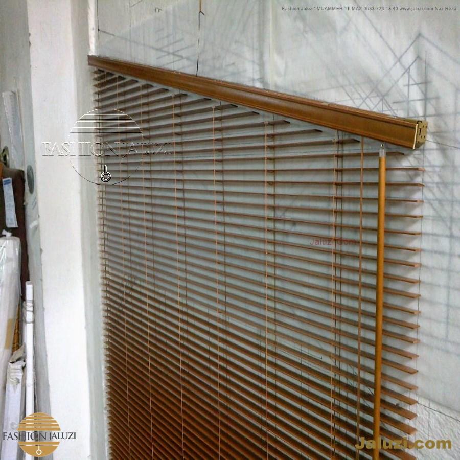 jaluzi perde eğimli meyilli üçgen yamuk şekilsiz alttan eğik formsuz üstten açılı açı shaped venetian blinds ahşap jaluzi perde (48)