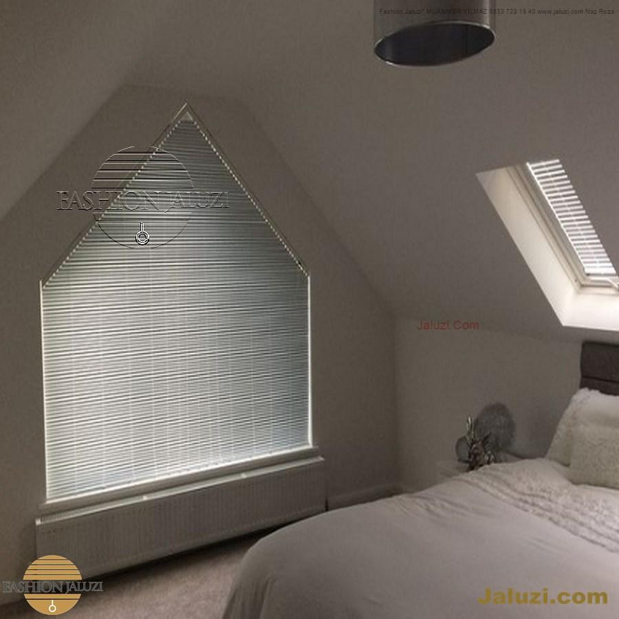 jaluzi perde eğimli meyilli üçgen yamuk şekilsiz alttan eğik formsuz üstten açılı açı shaped venetian blinds ahşap jaluzi perde (5)