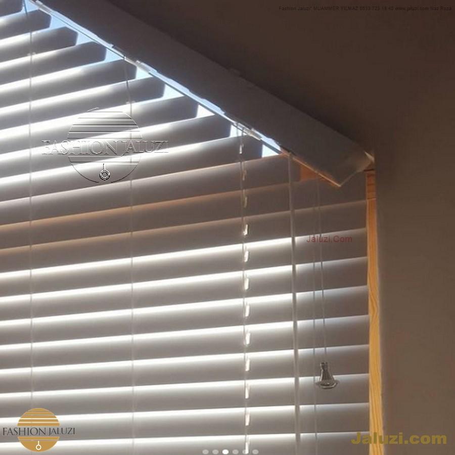 jaluzi perde eğimli meyilli üçgen yamuk şekilsiz alttan eğik formsuz üstten açılı açı shaped venetian blinds ahşap jaluzi perde (6)