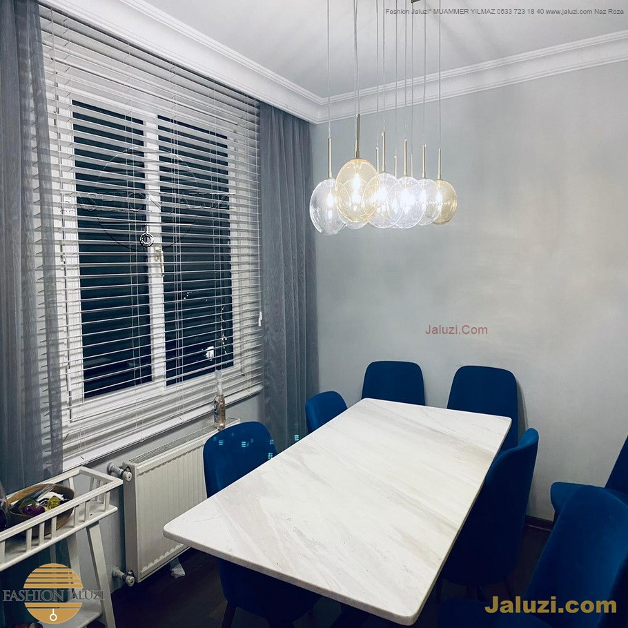 ahşap jaluzi perde fon perde panel perde klasik modern tarz kanat perde dekorasyonu wood blinds with valances drapery (11)