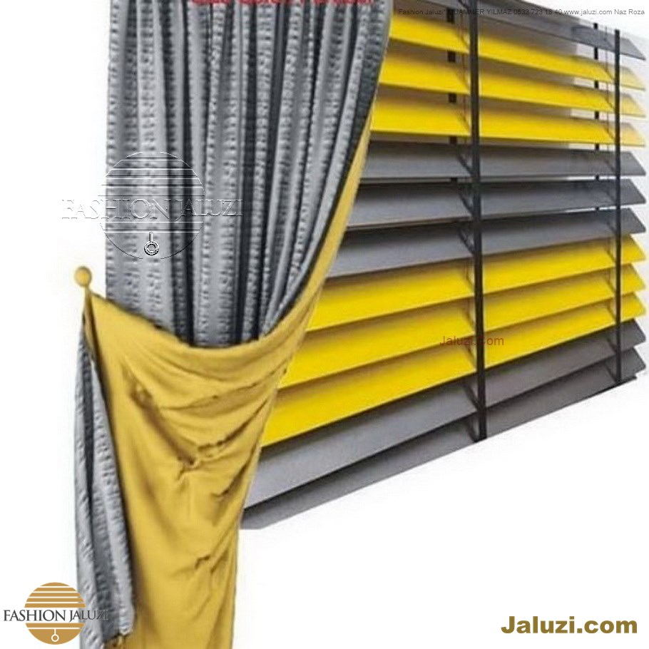 ahşap jaluzi perde fon perde panel perde klasik modern tarz kanat perde dekorasyonu wood blinds with valances drapery (27)