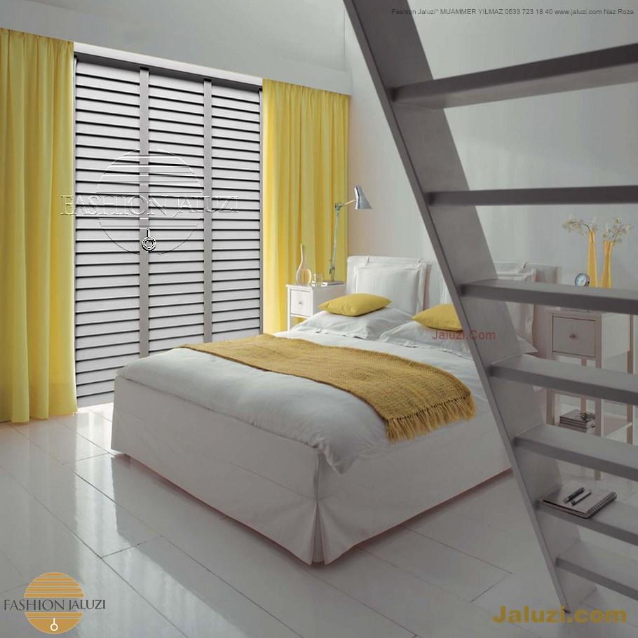 ahşap jaluzi perde fon perde panel perde klasik modern tarz kanat perde dekorasyonu wood blinds with valances drapery (5)