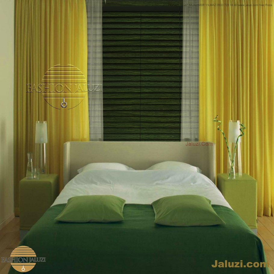ahşap jaluzi perde fon perde panel perde klasik modern tarz kanat perde dekorasyonu wood blinds with valances drapery (6)