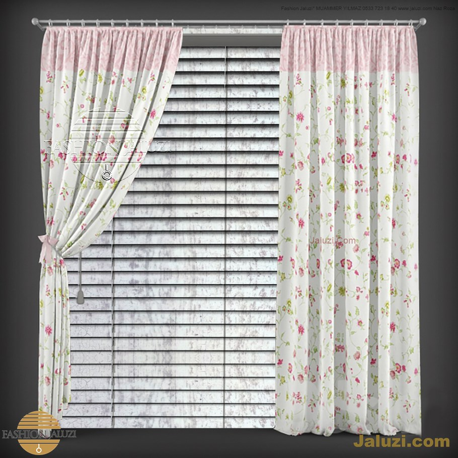 ahşap jaluzi perde fon perde panel perde klasik modern tarz kanat perde dekorasyonu wood blinds with valances drapery (7)