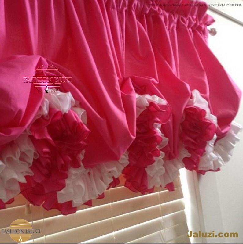 jaluzi ve fon perde kumaş perde ahşap jaluziler ve kanat fon drape eprdeler wood venetain blinds with drapery swag valance (20)