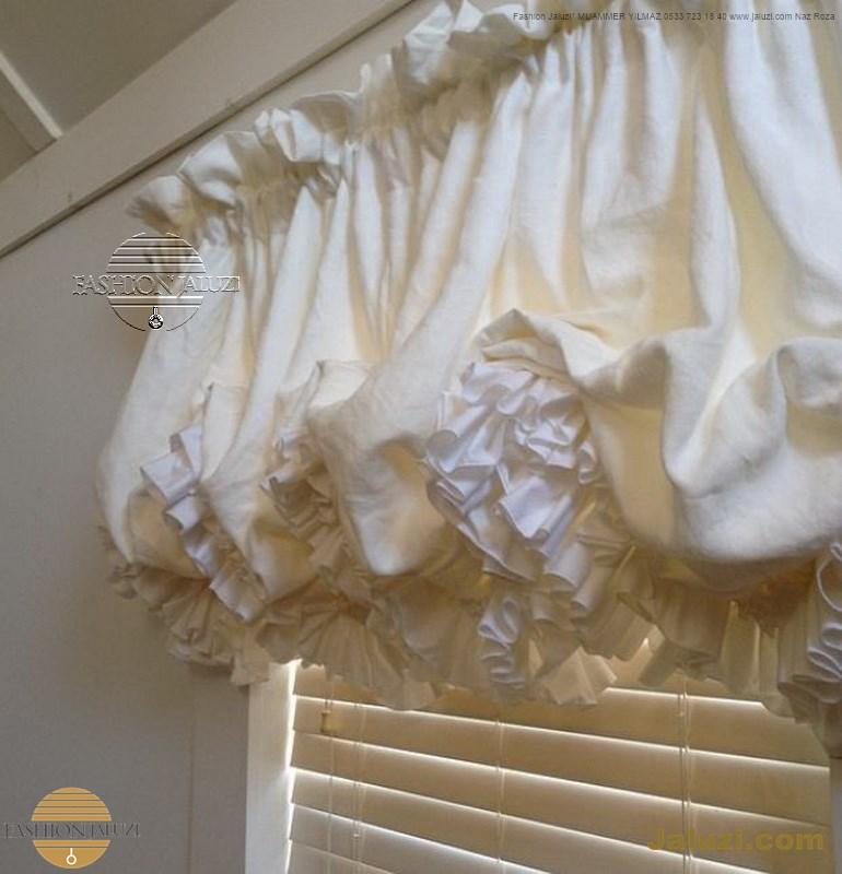 jaluzi ve fon perde kumaş perde ahşap jaluziler ve kanat fon drape eprdeler wood venetain blinds with drapery swag valance (21)