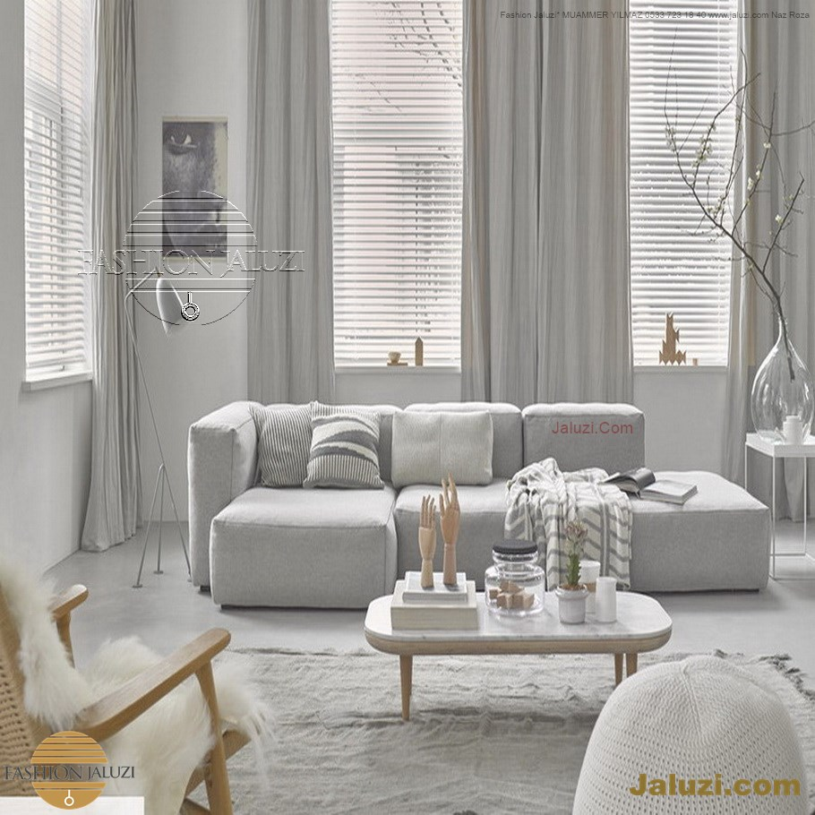 jaluzi ve fon perde kumaş perde ahşap jaluziler ve kanat fon drape eprdeler wood venetain blinds with drapery swag valance (4)