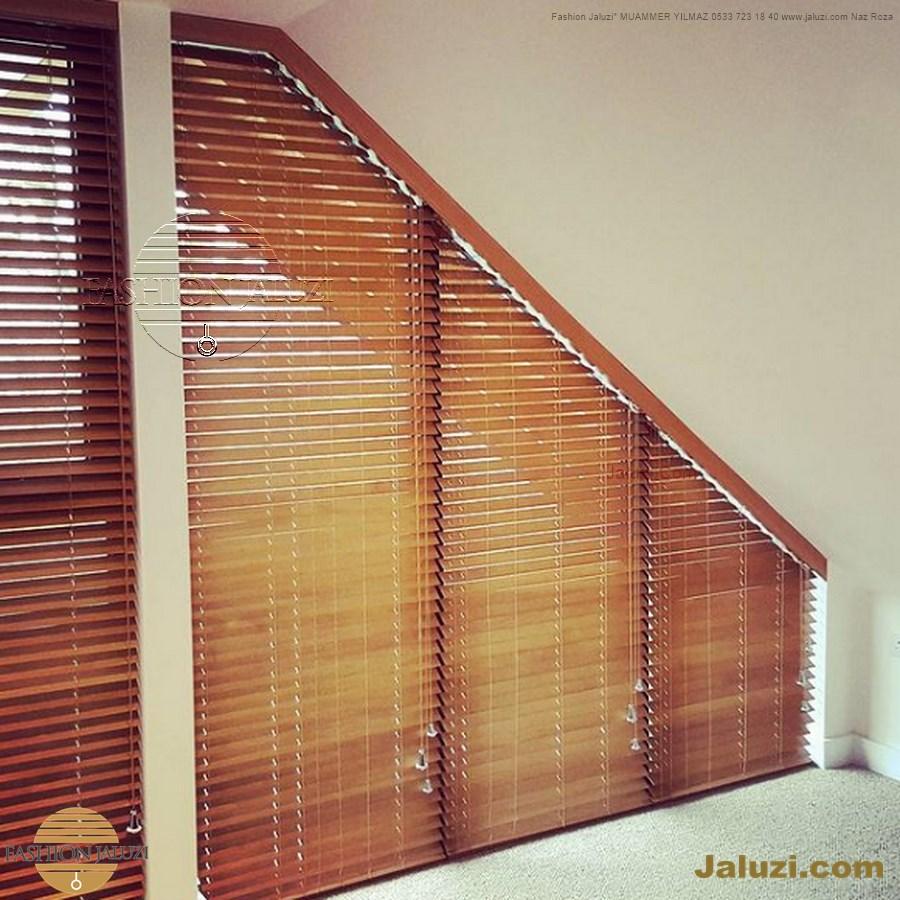 perde ahşap jaluzi perde fon perde panel perde klasik modern tarz kanat perde dekorasyonu wood blinds with valances drapery_12